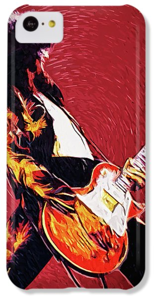 Folk Art iPhone 5c Case - Jimmy Page  by Taylan Apukovska