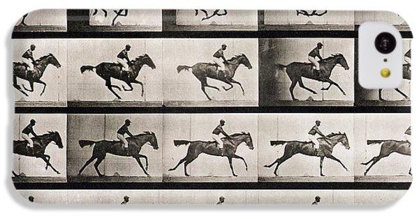 Horse iPhone 5c Case - Jockey On A Galloping Horse by Eadweard Muybridge