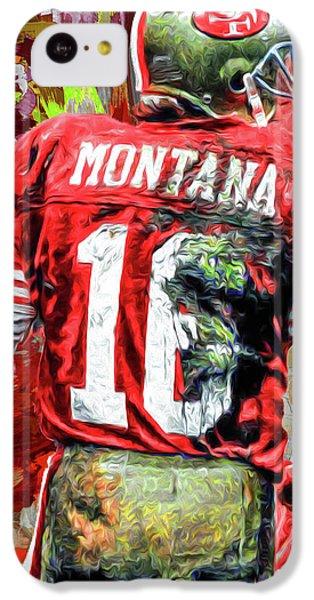 Joe Montana Football Digital Fantasy Painting San Francisco 49ers IPhone 5c Case