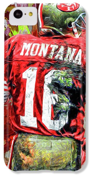 Joe Montana Football Digital Fantasy Painting San Francisco 49ers IPhone 5c Case by David Haskett
