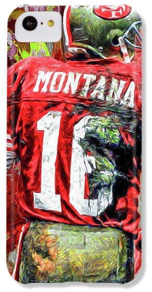 Joe Montana Football Digital Fantasy Painting San Francisco 49ers IPhone 5c Case by David Haskett
