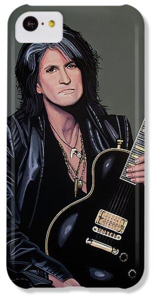 Steven Tyler iPhone 5c Case - Joe Perry Of Aerosmith Painting by Paul Meijering