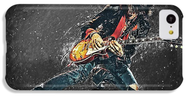 Steven Tyler iPhone 5c Case - Joe Perry by Taylan Apukovska