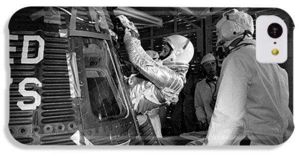 John Glenn Entering Friendship 7 Spacecraft IPhone 5c Case by War Is Hell Store