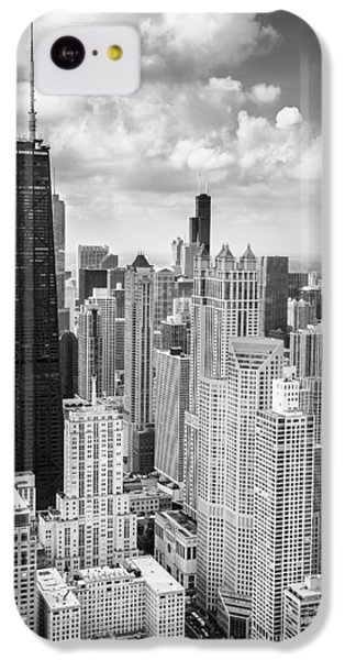 John Hancock Building In The Gold Coast Black And White IPhone 5c Case by Adam Romanowicz