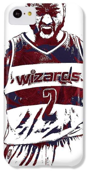 Wizard iPhone 5c Case - John Wall Washington Wizards Pixel Art 5 by Joe Hamilton