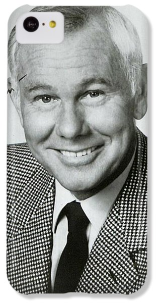 Johnny Carson iPhone 5c Case - Johnny Carson Autographed Print by Pd