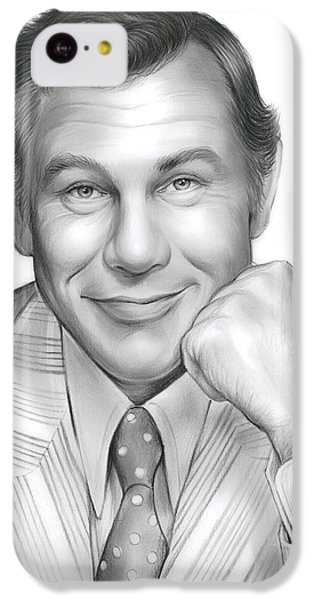 Johnny Carson iPhone 5c Case - Johnny Carson by Greg Joens