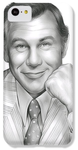 Johnny Carson IPhone 5c Case by Greg Joens