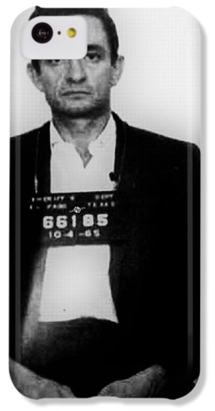 Johnny Cash iPhone 5c Case - Johnny Cash Mug Shot Vertical by Tony Rubino