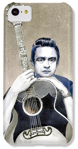 Johnny Cash iPhone 5c Case - Johnny Cash by Yuriy Shevchuk