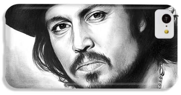 Johnny Depp IPhone 5c Case by Greg Joens