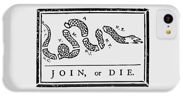 Brown Snake iPhone 5c Case - Join Or Die by War Is Hell Store