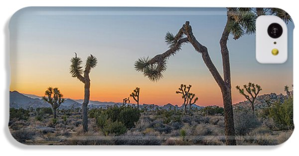 Desert iPhone 5c Case - Joshua Sunset by Joseph Smith