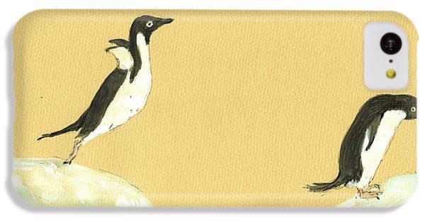 Penguin iPhone 5c Case - Jumping Penguins by Juan  Bosco