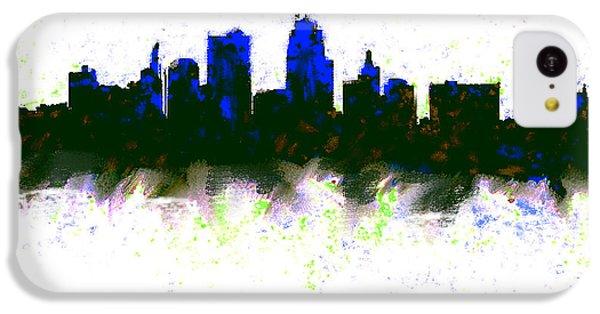 Kansas City Skyline Blue  IPhone 5c Case