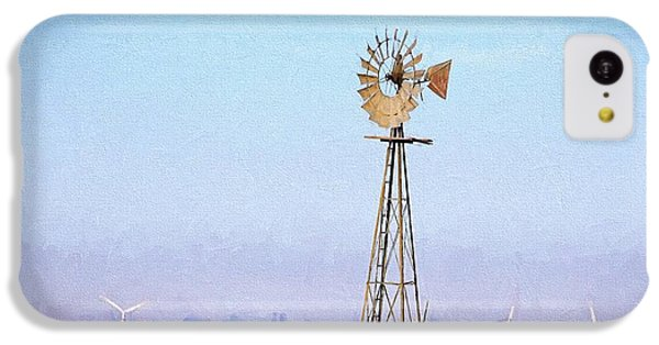 IPhone 5c Case featuring the digital art Kansas Windmills by JC Findley