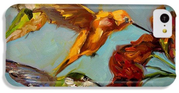 Humming Bird iPhone 5c Case - Kathy's Humming Birds by Diane Whitehead