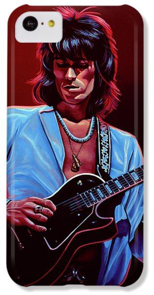 Rolling Stone Magazine iPhone 5c Case - Keith Richards The Riffmaster by Paul Meijering