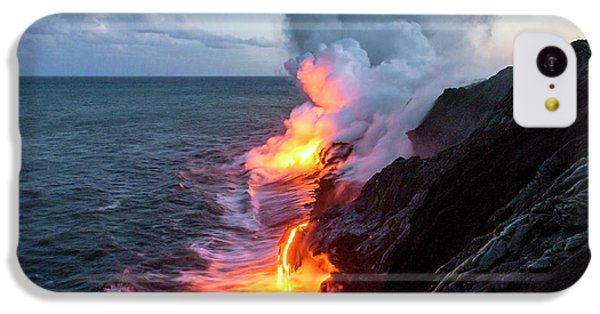 Flow iPhone 5c Case - Kilauea Volcano Lava Flow Sea Entry 3- The Big Island Hawaii by Brian Harig