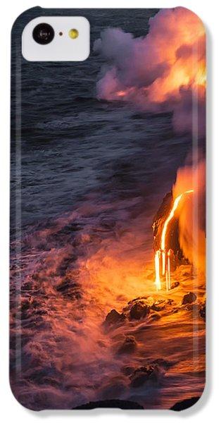 Flow iPhone 5c Case - Kilauea Volcano Lava Flow Sea Entry 6 - The Big Island Hawaii by Brian Harig