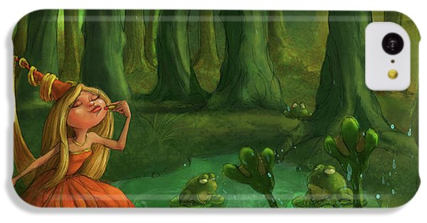 Castle iPhone 5c Case - Kissing Frogs by Andy Catling