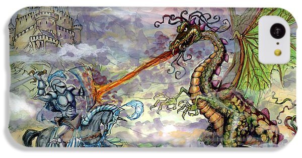 Fantasy iPhone 5c Case - Knights N Dragons by Kevin Middleton