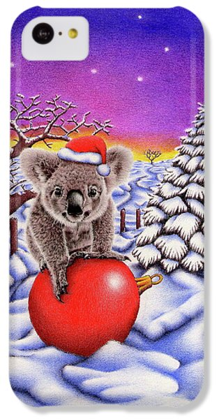 Koala On Christmas Ball IPhone 5c Case by Remrov