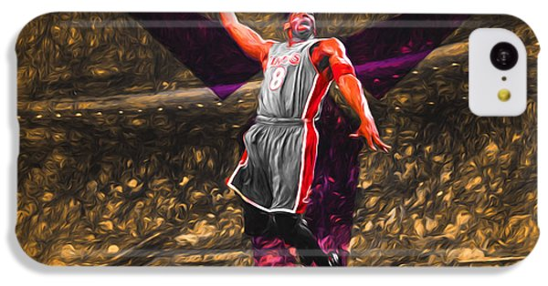 Kobe Bryant Black Mamba Digital Painting IPhone 5c Case by David Haskett