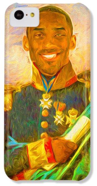 Kobe Bryant Floor General Digital Painting La Lakers IPhone 5c Case by David Haskett