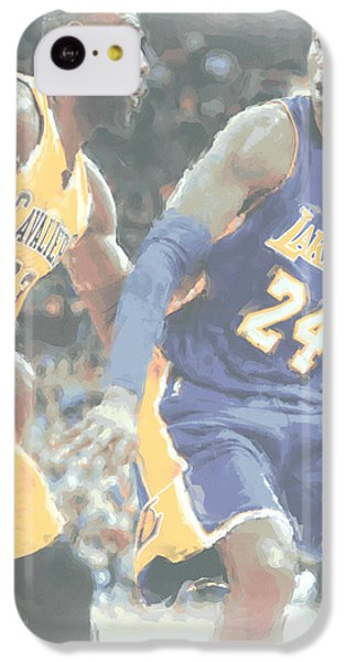 Lebron James iPhone 5c Case - Kobe Bryant Lebron James 2 by Joe Hamilton