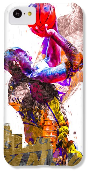 Kobe Bryant Los Angeles Lakers Digital Painting Snake 1 IPhone 5c Case by David Haskett