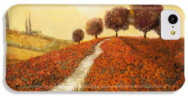 Landscape iPhone 5c Case - La Collina Dei Papaveri by Guido Borelli