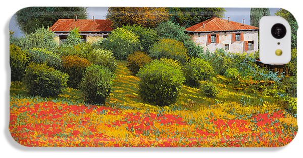 Rural Scenes iPhone 5c Case - La Nuova Estate by Guido Borelli