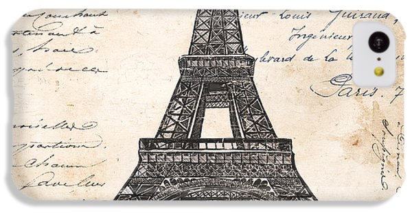 La Tour Eiffel IPhone 5c Case by Debbie DeWitt