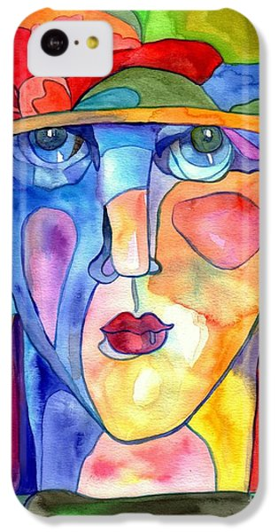 Doctor iPhone 5c Case - Lady In Hat Watercolor by Suzann's Art