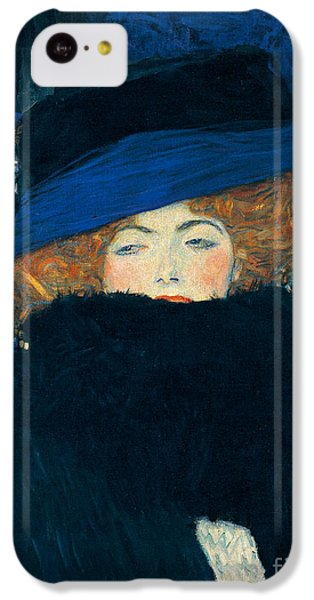 Lady With A Hat And A Feather Boa IPhone 5c Case by Gustav Klimt