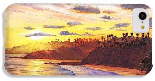 Beach Sunset iPhone 5c Case - Laguna Village Sunset by Steve Simon