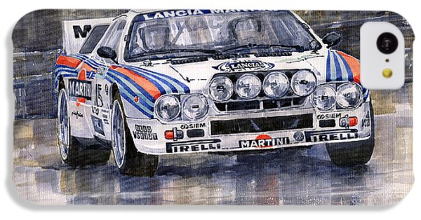 Car iPhone 5c Case - Lancia 037 Martini Rally 1983 by Yuriy Shevchuk