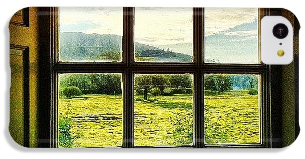 #landscape #window #beautiful #trees IPhone 5c Case by Samuel Gunnell