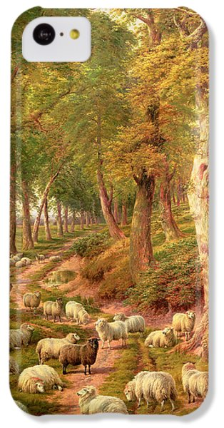 Rural Scenes iPhone 5c Case - Landscape With Sheep by Charles Joseph