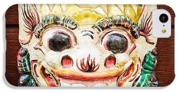 Cool iPhone 5c Case - Laughing Mask by Matthias Hauser