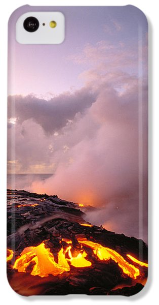 Lava Flows At Sunrise IPhone 5c Case by Peter French - Printscapes