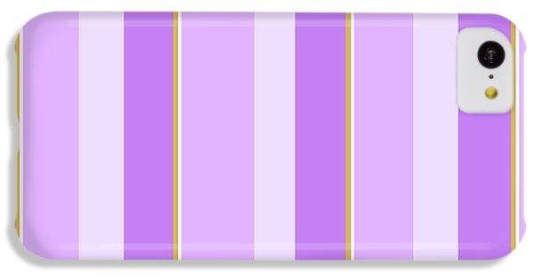 Lavender Stripe Pattern IPhone 5c Case by Christina Rollo