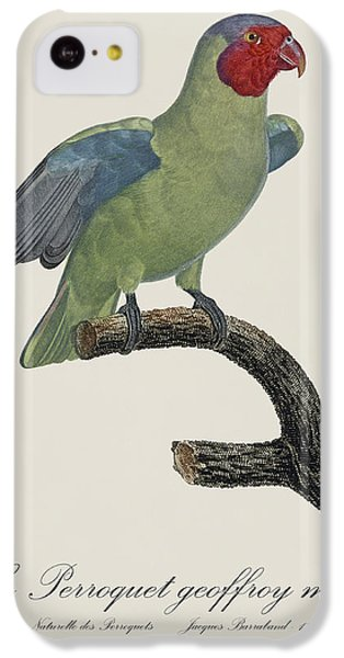 Le Perroquet Geoffroy Male / Red Cheeked Parrot - Restored 19th C. By Barraband IPhone 5c Case