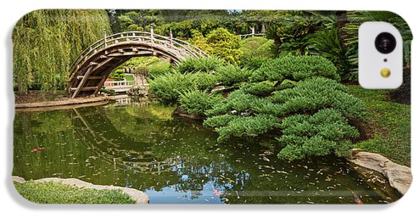 Garden iPhone 5c Case - Lead The Way - The Beautiful Japanese Gardens At The Huntington Library With Koi Swimming. by Jamie Pham