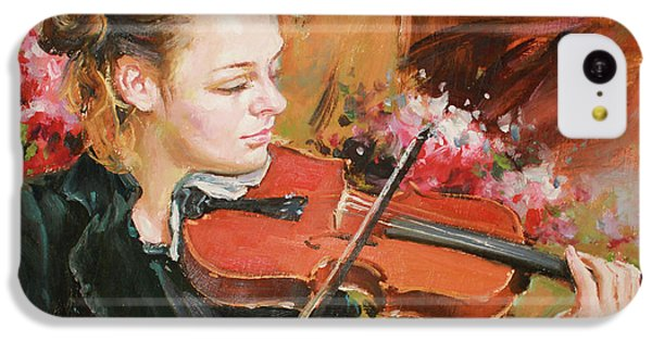 Violin iPhone 5c Case - Learning The Violin by Conor McGuire