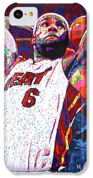 Lebron James iPhone 5c Case - Lebron Dunk by Maria Arango