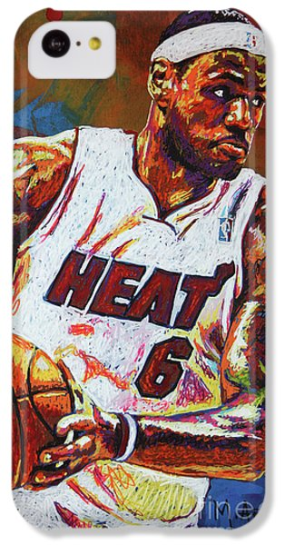 Lebron James iPhone 5c Case - Lebron James 3 by Maria Arango