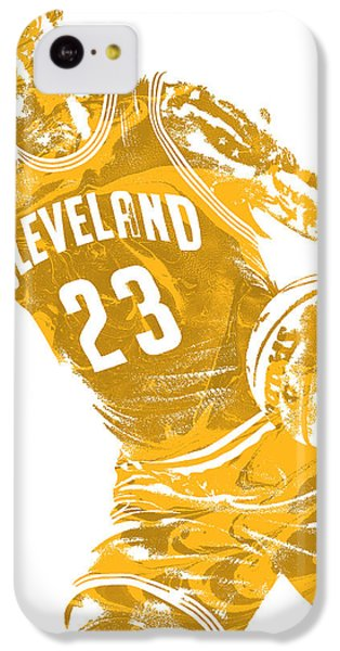Lebron James iPhone 5c Case - Lebron James Cleveland Cavaliers Pixel Art 20 by Joe Hamilton